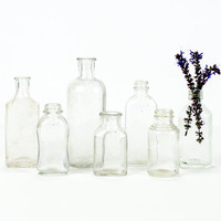 Antique Glass Apothecary Bottle Collection