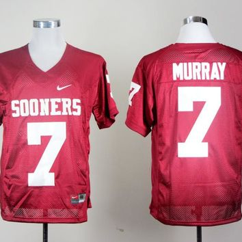NIKE Oklahoma Sooners DeMarco Murray 7 College Ice Hockey Jerseys - Red Size S M L XL 2XL 3XL