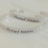 Personalized Gift, Big little sorority Bracelet, Big & little sorority Bracelet, twisted sister, Sorority jewelry, sorority bangle bracelet