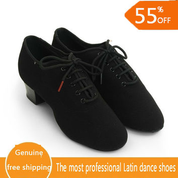 Latin Dance Shoes Woman Genuine Leather Modern Dance Shoe Teacher Jazz Aerobics Dancing Sneakers Coupons 100% Genuine BD 417 Hot
