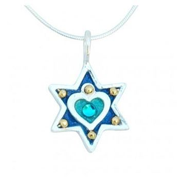 Heart Star of David Necklace
