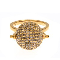 Diamond & gold-plated Disco Ball ring | Jade Jagger | MATCHESFASHION.COM US