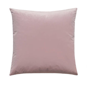 Blush Velvet Pillow Cover, Light Pink Pillow, Belgium Velvet, Pink Accent Pillow, Rose Zipper Pillow Cover, Blush Pillow, Velvet Toss Pillow