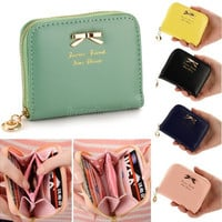 Candy Color Lady Lovely Purse Clutch Women Wallets Small Bag PU Leather Card Holder  [10198254023]