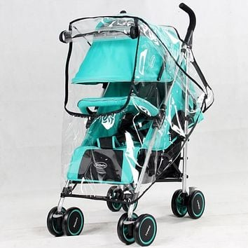 New Universal baby stroller Rain Cover Dust Wind Shield With window Stroller Accessories Pushchairs Buggy Waterproof Rain Cover