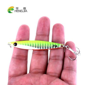 HENGJIA 1pc 21g hard metal lead fishing lures sea sinking jig vib fishing baits artificial lures pesca fishing tackles