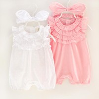 Baby Clothes Cotton Baby Girl Clothes 2017 Summer Infant Girl Dress Jumpsuits Kids Costume For Newborn Baby Girl Rompers