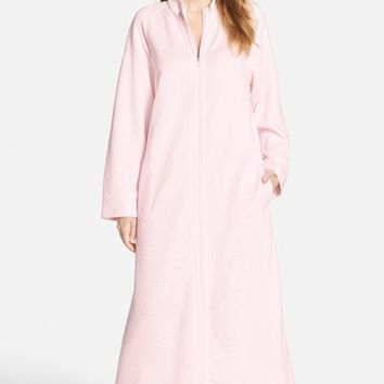 Women's Carole Hochman Designs Zip Front Quilted Robe,