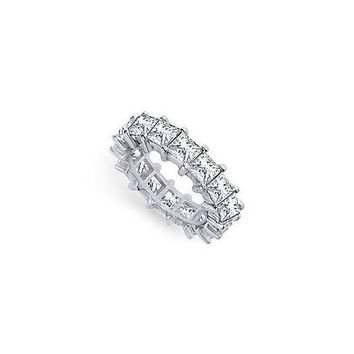 Platinum Diamond Eternity Band : 5.00 CT Diamonds