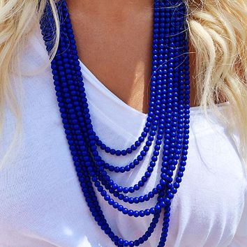Snap, Crackle, Pop Necklace: Navy