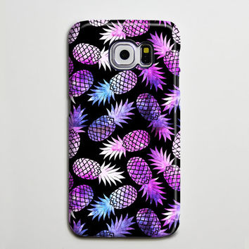 Purple Pineapple Fruit Samsung Galaxy S6 Edge Case,Galaxy S6 case,Samsung S5 Case S4 Case S3 Case,Samsung Galaxy Note 3 Case Note 2 Case