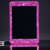 iPad Mini Otterbox Case - Custom Pink/Raspberry Glitter Otterbox Defender iPad Mini Retina Case - Cute Sparkly Bling iPad Mini Case