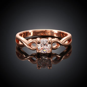Twist Rose Gold Plated Ring