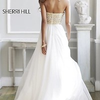 Long Strapless Evening Gown by Sherri Hill
