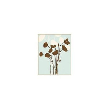 Ptm Images Floral Silhouette Wall Decor, Plaque