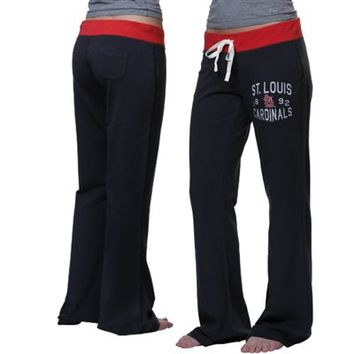 '47 Brand St. Louis Cardinals Ladies Powerstretch Pants - Navy Blue