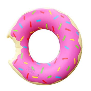 Swimming Pool beach Funny Outdoor Toys Inflatable Swimming Ring Training Float Seat Sweet Doughnut Adults Kids  Floats AccessoriesSwimming Pool beach KO_14_1