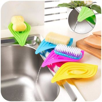 2pcs Draining Soap Box Kitchen Sink Soap Storage Drainage Shelf Soap Dish Kitchen Bathroom Set Tray Soap Holder