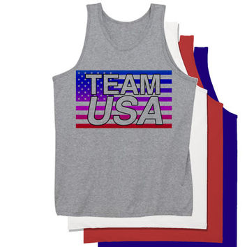 80's Style TEAM USA Tank Top | Fourth of July tanks | Funny 4th of July Drinking Tanks Hoodies and more | 4th of July Holiday Drinking Top