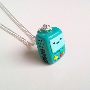 BMO 'Beemo' Adventure Time necklace by geeniejay on Etsy