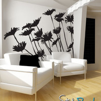 Vinyl Wall Decal Sticker Daisies Flower #AC113