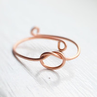 Reversible Rose Gold Knot Ring,Adjustable knot Ring,eternity ring,Rose gold ring,copper ring,love ring,chic,delicate,dainty jewelry,gift