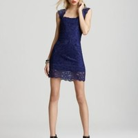 Nicole Miller Dress - Stretch Lace Short Open Back - Contemporary - Bloomingdale's