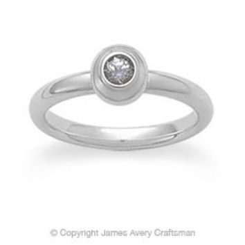 Avery Remembrance Ring with White Sapphire (April) from James Avery