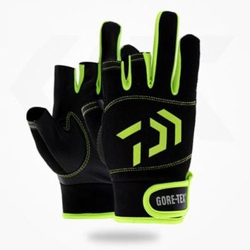 3 Cut Finger Fishing Gloves Outdoor Sports Waterproof Hunting Guantes De 1 Pair Pesca Fitness Carp Fishing Accessories