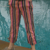 Striped Fancy Pants by SimplyThrifting on Etsy