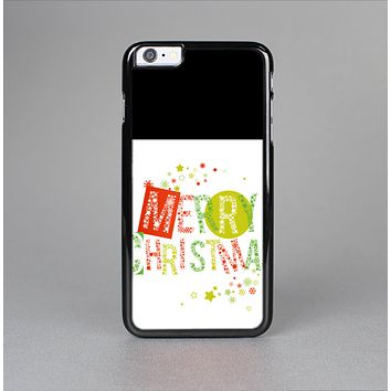 The Green and Red Merry Christmas Skin-Sert for the Apple iPhone 6 Plus Skin-Sert Case
