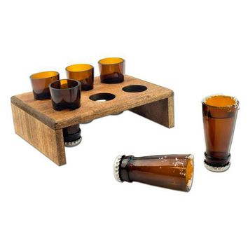 Beer Bottle Shot Glasses Set