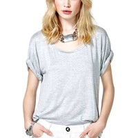 Nasty Gal New Boyfriend Tee - Heather Gray