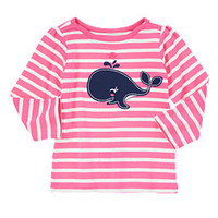 Happy Whale Striped Tee