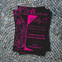 Printable Bachelorette Party Invitation - Pink Martini
