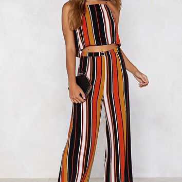 Your Line to Shine Striped Crop Top and Pants