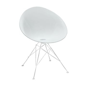 Modern White Receptivity Dish Chair