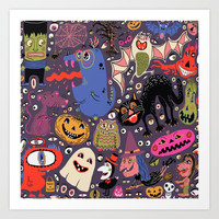 Yay for Halloween! Art Print by Amy Gale