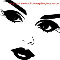 pretty lady eyes and lips facial features printable art makeup clipart png download digital face beauty image graphics digital stamp