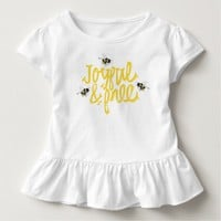 Joyful & Free Bees Illustrated Toddler T-shirt