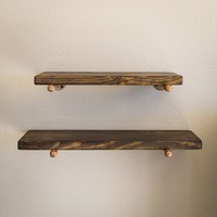 Industrial Floating Shelf Set