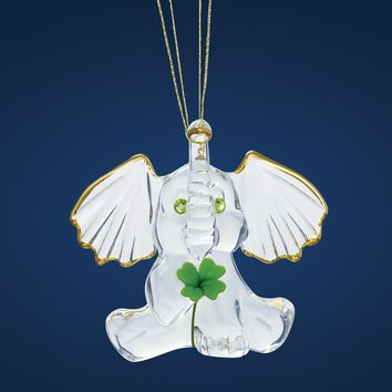 Glass Baron Lucky Elephant Glass Ornament
