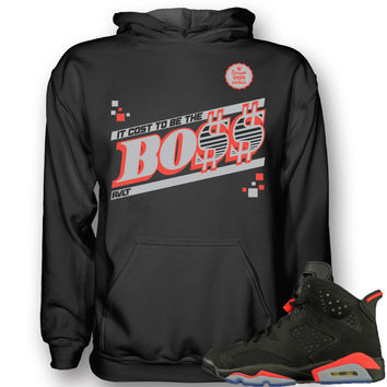 Revolt Apparel Boss Infrared 6's Black Hoodie