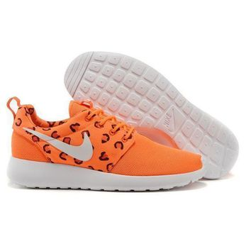 Nike Roshe Wmns Orange Leopard Running Sport Casual Sneakers Shoes - Ready Stock