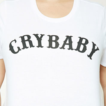 Plus Size Crybaby Graphic Tee