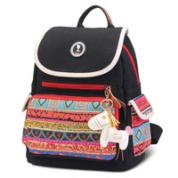 Tribal Print Diaper Bag With Horse Keychain