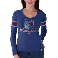 New York Rangers '47 Brand Women's Homerun Long Sleeve T-Shirt – Royal Blue