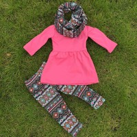 Pink Aztec 3-Piece Boutique Outfit