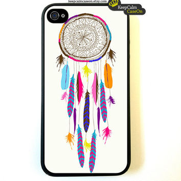 iPhone 4 Case Dream Catcher iPhone Case Hard by KeepCalmCaseOn