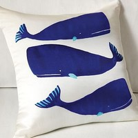 Lourdes Sánchez Whales Pillow Cover | west elm